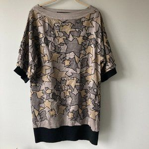 MARC JACOBS Oversized Embroidered Star Top Size 4